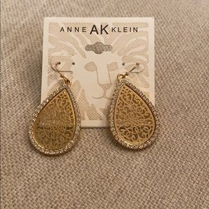 Anne Klein gold and silver earrings